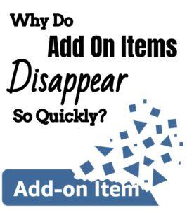 understanding add on items
